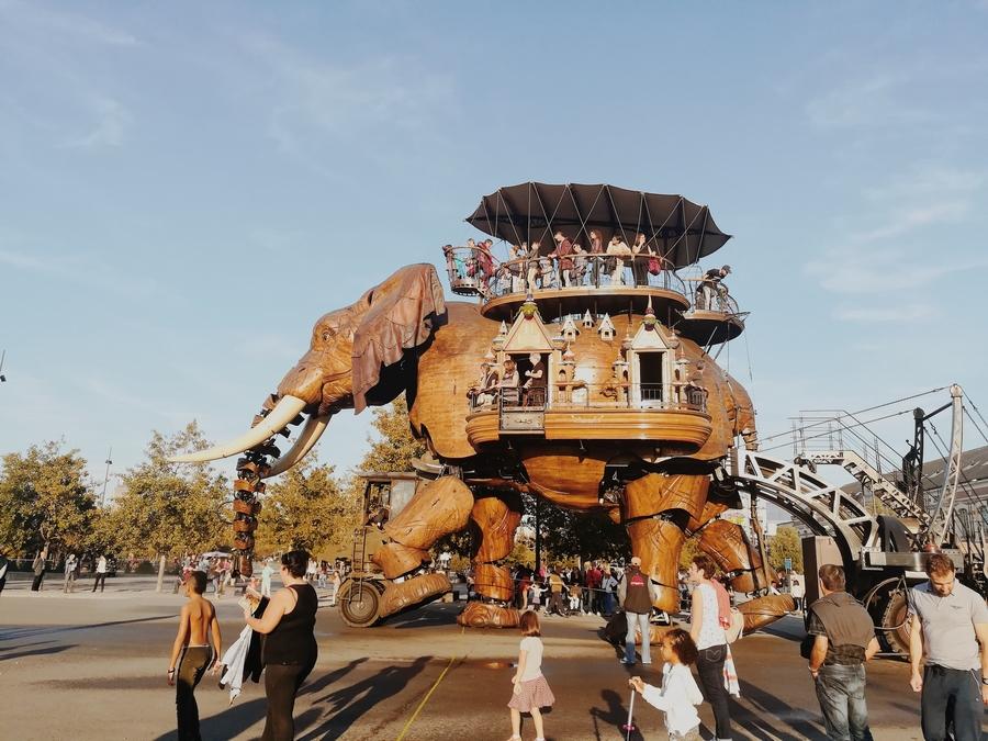 elephant machines de l'ile de nantes