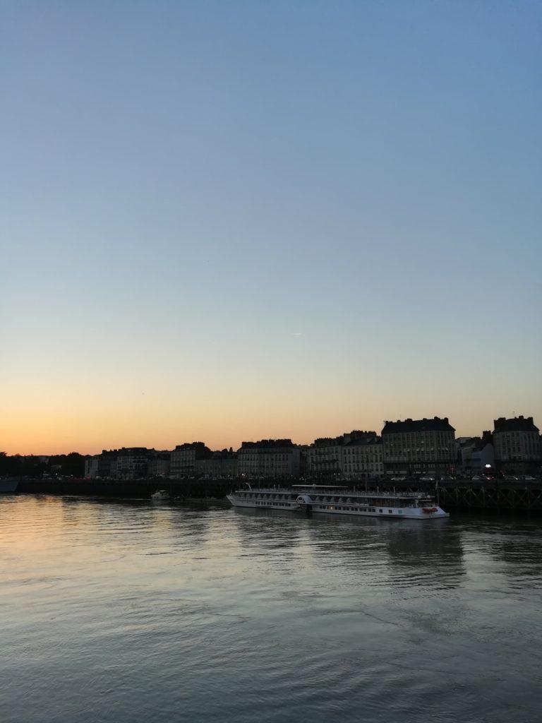 coucher de soleil loire nantes