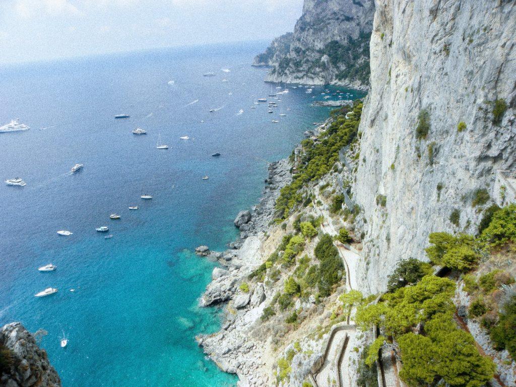 randonnée capri via krupp italie