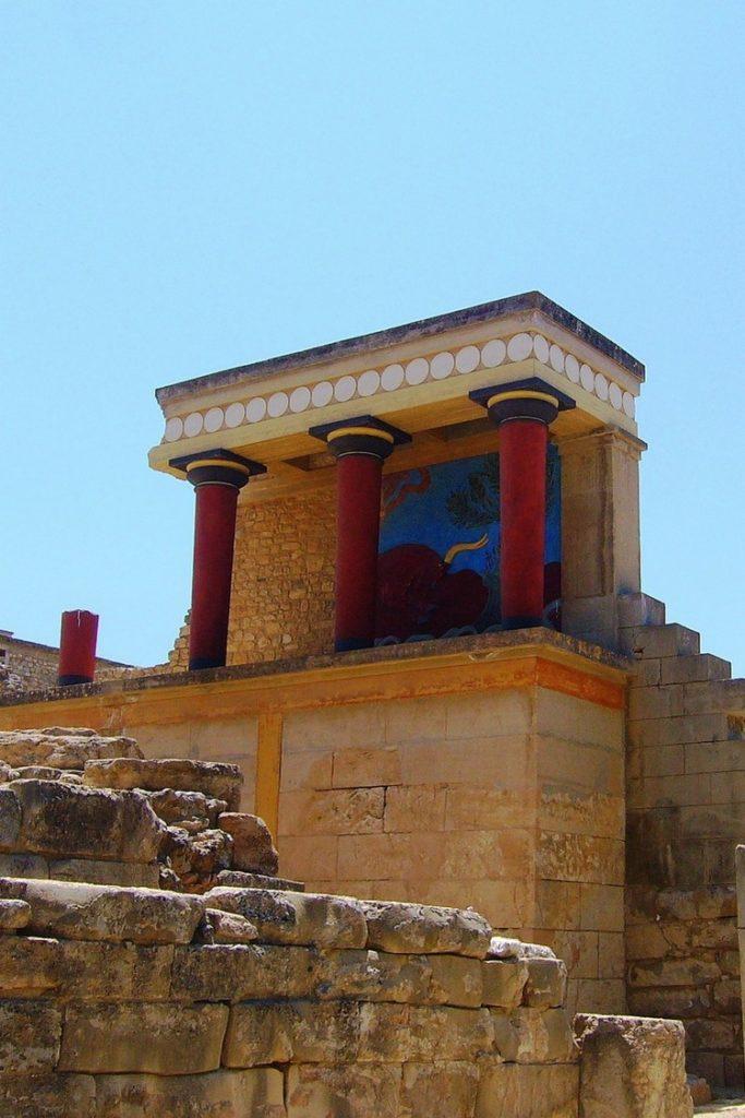 site archeologique palais knossos crete grece
