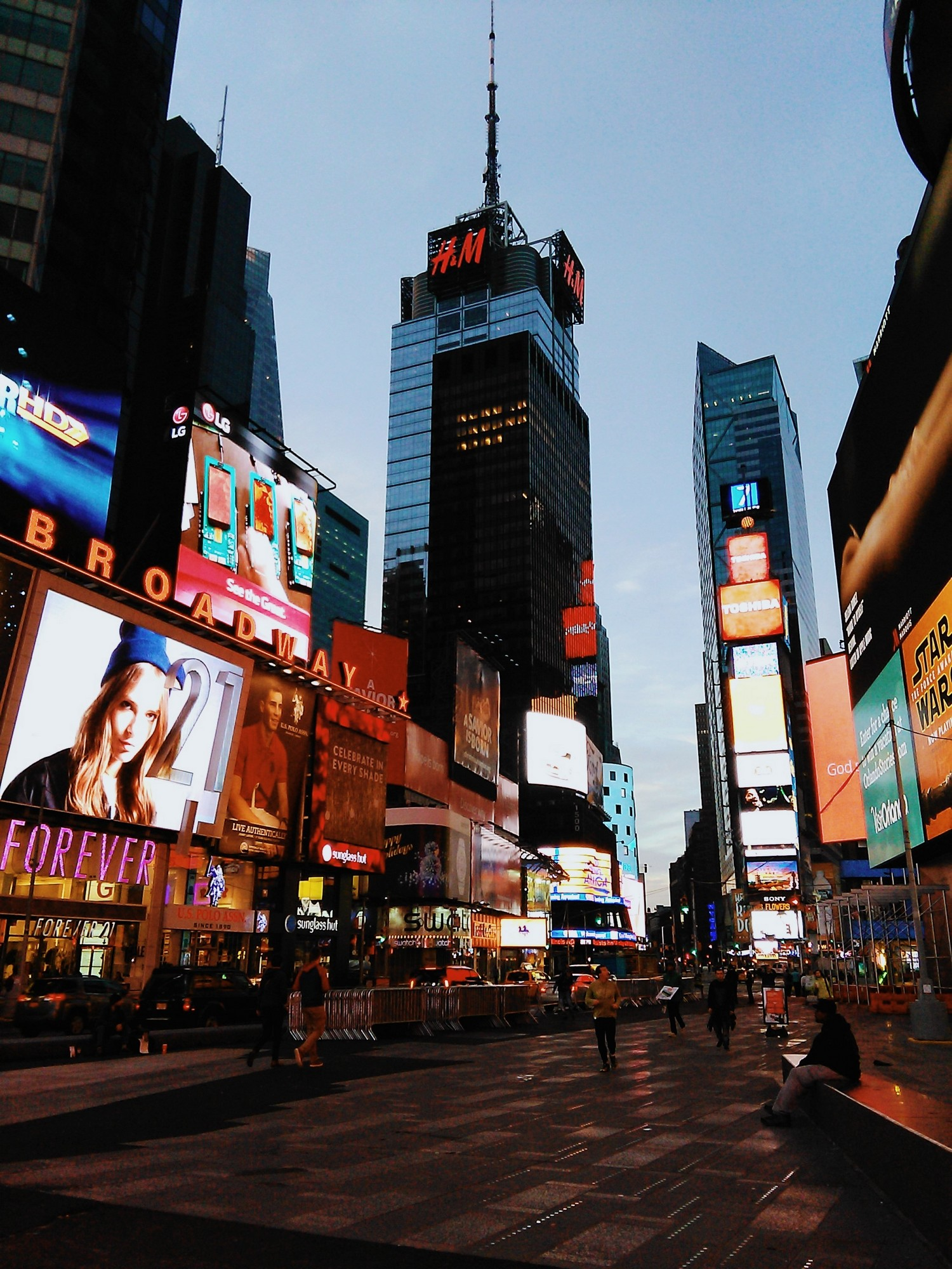 times square new york noel